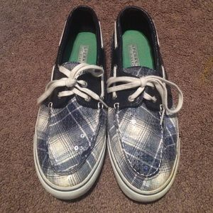 Blue plaid Sperry Top-Sider